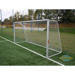 Bramka stacjonarna aluminiowa do piłki nożnej 7,32x2,44m z pałąkami, do tulei,