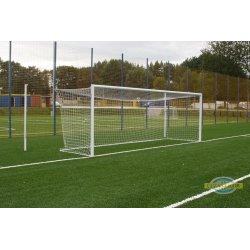 Bramka do piłki nożnej 7,32x2,44m aluminiowa stacjonarna z odciągami siatki