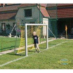 Bramka do piłki nożnej aluminiowa 2,2x1,5 m - przenośna