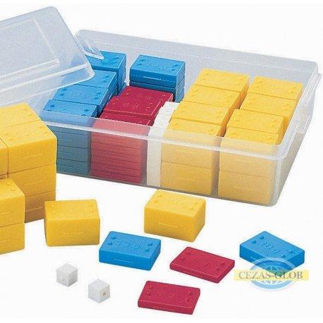 Odważniki 1-5-10-20 gramowe, 76 sztuk - w pudełku