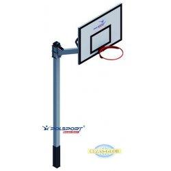 Stojak do koszykówki jednosłupowy cynkowany i malowany, wysięgnik 1,2 m, rura kwadrat 100x100x3