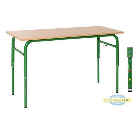 Stół szkolny regulowany KUBUŚ II 2-osobowy