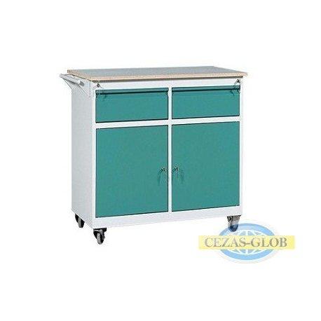 Wózek warsztatowy 2 szuflady + 2 szafki WWM-C