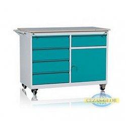 Wózek warsztatowy 5 szuflad + 1 szafka WWD-A