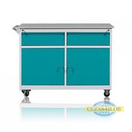 Wózek warsztatowy 2 szuflady + 2 szafki WWD-C