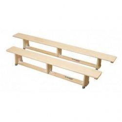 Ławka gimnastyczna drewniana 2M, nogi metalowe