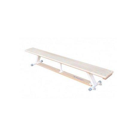 Ławka gimnastyczna nogi metalowe i kółka 2 m