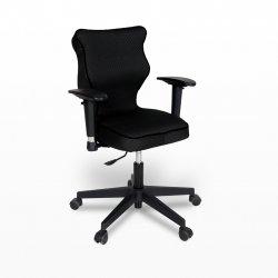 Krzesło obrotowe Rapid Plus – rozmiar 6 (159-207 cm), lamówka czarna, stelaż czarny