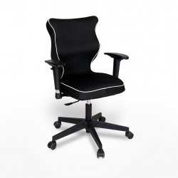 Krzesło obrotowe Rapid Plus – rozmiar 5 (146-176,5 cm), lamówka biała, stelaż czarny