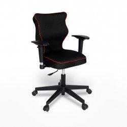 Krzesło obrotowe Rapid Plus – rozmiar 6 (159-207 cm), lamówka czerwona, stelaż czarny