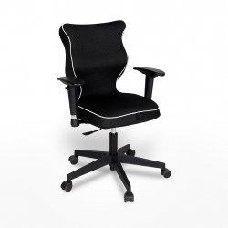 Krzesło obrotowe Rapid Plus – rozmiar 6 (159-207 cm), lamówka biała, stelaż czarny