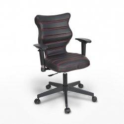 Krzesło obrotowe Vero – rozmiar 6 (159-207 cm), wzór pasy, nić czerwona, stelaż czarny