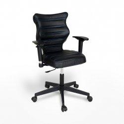 Krzesło obrotowe Vero – rozmiar 6 (159-207 cm), wzór pasy, nić niebieska, stelaż czarny