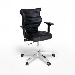 Krzesło obrotowe Vero – rozmiar 6 (159-207 cm), wzór pasy, nić niebieska, stelaż chrom