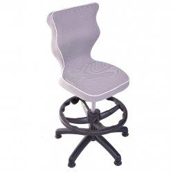 Krzesło obrotowe Luka - rozmiar 3 z podnóżkiem (wzrost 119-142 cm) - lamówka biała