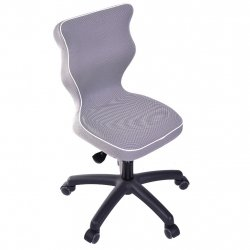 Krzesło obrotowe Luka - rozmiar 4 (133-159 cm) - lamówka biała