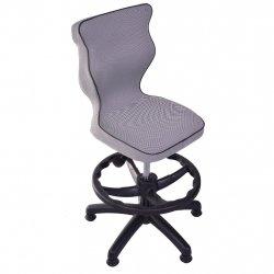 Krzesło obrotowe Luka - rozmiar 4 z podnóżkiem (wzrost 133-159 cm) - lamówka czarna