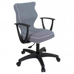 Krzesło obrotowe Luka - rozmiar 6 (159-207 cm) - lamówka biała