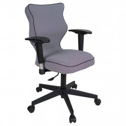 Krzesło obrotowe Luka Plus – rozmiar 5 (146 - 176,5 cm), lamówka czarna, stelaż czarny