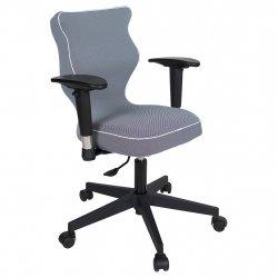 Krzesło obrotowe Luka Plus – rozmiar 5 (146-176,5 cm), lamówka biała, stelaż czarny