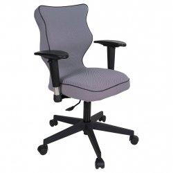 Krzesło obrotowe Luka Plus – rozmiar 6 (159-207 cm), lamówka czarna, stelaż czarny