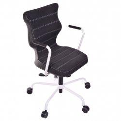 Krzesło obrotowe Deco – rozmiar 6 (wzrost 159-207 cm), stelaż biały, antracyt