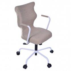 Krzesło obrotowe Deco – rozmiar 6 (wzrost 159-207 cm), stelaż biały, brązowe