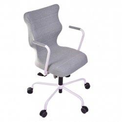 Krzesło obrotowe Deco – rozmiar 6 (wzrost 159-207 cm), stelaż biały, miętowe