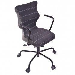 Krzesło obrotowe Deco – rozmiar 6 (wzrost 159-207 cm), stelaż czarny, antracyt