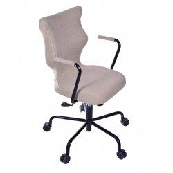 Krzesło obrotowe Deco – rozmiar 6 (wzrost 159-207 cm), stelaż czarny, brązowe