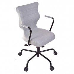 Krzesło obrotowe Deco – rozmiar 6 (wzrost 159-207 cm), stelaż czarny, miętowe