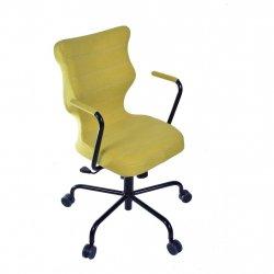 Krzesło obrotowe Deco – rozmiar 6 (wzrost 159-207 cm), stelaż czarny, oliwkowe