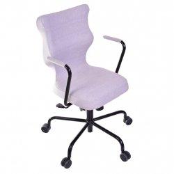 Krzesło obrotowe Deco – rozmiar 6 (wzrost 159-207 cm), stelaż czarny, szare