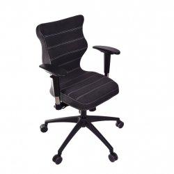 Krzesło obrotowe Deco Prestiż – rozmiar 6 (wzrost 159-207 cm), stelaż czarny, antracyt