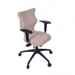 Krzesło obrotowe Deco Prestiż – rozmiar 6 (wzrost 159-207 cm), stelaż czarny, brązowe