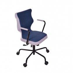 Krzesło obrotowe Lavre – rozmiar 6 (wzrost 159-207 cm), stelaż czarny, granatowe