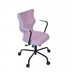 Krzesło obrotowe Lavre – rozmiar 6 (wzrost 159-207 cm), stelaż czarny, różowe