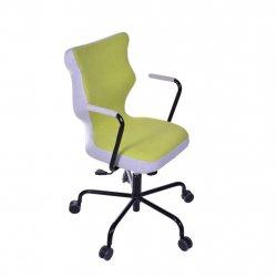 Krzesło obrotowe Lavre – rozmiar 6 (wzrost 159-207 cm), stelaż czarny, zielone