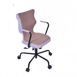 Krzesło obrotowe Lavre – rozmiar 6 (wzrost 159-207 cm), stelaż czarny, brązowe