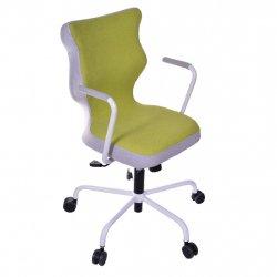Krzesło obrotowe Lavre – rozmiar 6 (wzrost 159-207 cm), stelaż biały, zielone