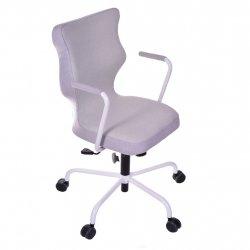 Krzesło obrotowe Lavre – rozmiar 6 (wzrost 159-207 cm), stelaż biały, pistacjowe
