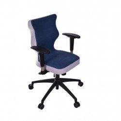 Krzesło obrotowe Lavre prestiż – rozmiar 6 (wzrost 159-207 cm), stelaż czarny, granatowe