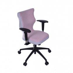 Krzesło obrotowe Lavre Prestiż – rozmiar 6 (wzrost 159-207 cm), stelaż czarny, różowe