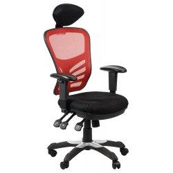 Krzesło obrotowe HG-0001H CZERWONY