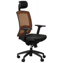 Krzesło obrotowe z wysuwem siedziska GN-301 POMARAŃCZ