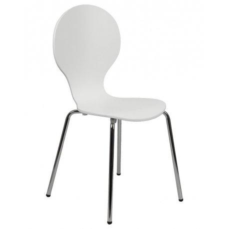 Krzesło stacjonarne sklejkowe TDC-122 BIAŁY