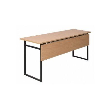 Stół szkolny 2-osobowy do pracowni z blatem HPL 28mm 120x50/60 z blendą