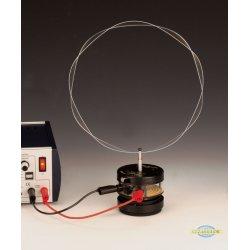 Pierścień rezonansowy w zestawieniu z wibratorem i generatorem funkcyjnym