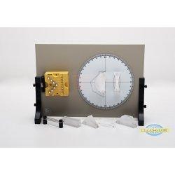 Optyka geometryczna Tarcza Kolbego z podstawą i akcesoriami
