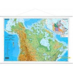 Kanada-mapa fizyczna w jęz. angielskim